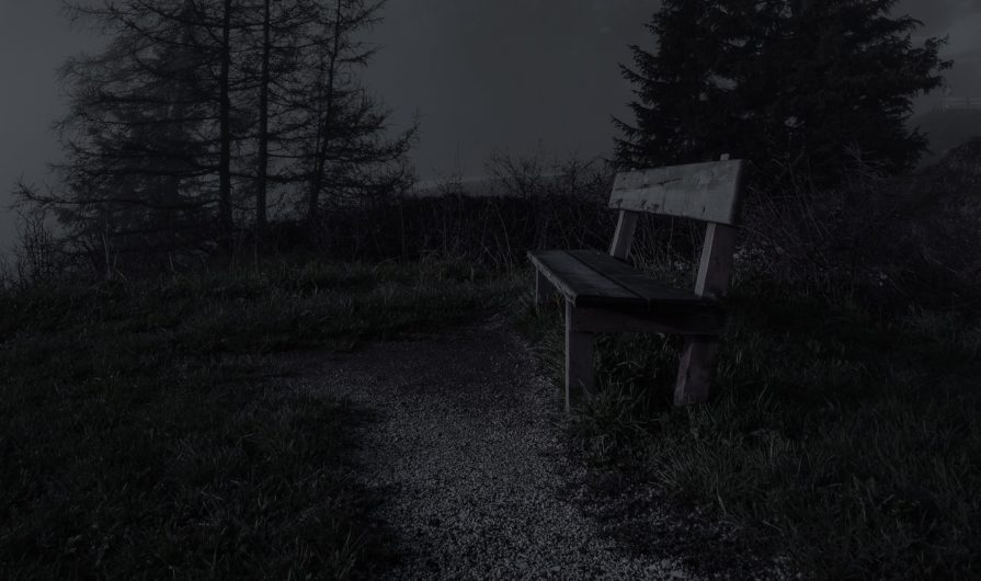 empty-bench-during-night-time